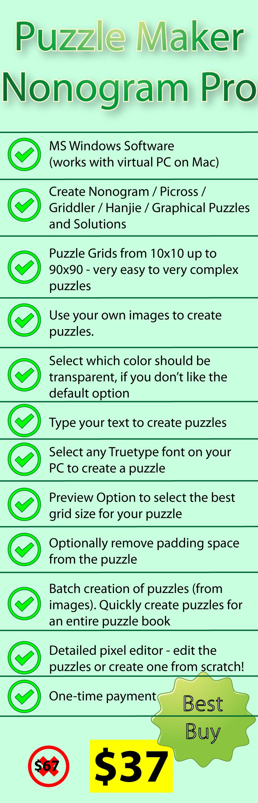 Puzzle Maker Nonogram | Designing for Print on Demand